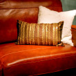 Stock Photo: Leather sofa