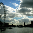 Silhouette of London — Stock Photo