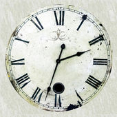 Antique clock — Stockfoto