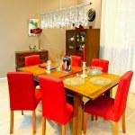 Holiday dining room — Stock Photo
