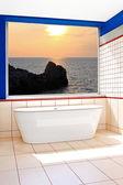 Bathtub window — Stok fotoğraf