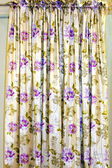Floral curtain — Stock Photo