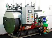 Industrial steam boiler — Stock Photo