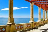 Sea view pillars — Stock Photo