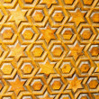 Jewish star texture - Stock Photo