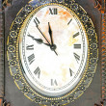 Oval clock — Stock Photo
