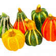 Pumpkin gourds isolated — Foto Stock