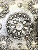 Pearl at silver — Stock Photo