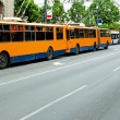 Trolleybus standstill — Stock Photo