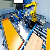 Robotic production line — Stock Photo