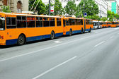 Trolleybus standstill — Photo