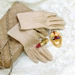 Beige gloves — Stock Photo #3882852