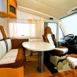 Camper dining room — Stock Photo