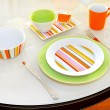 Stock Photo: Green plate
