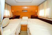 Camper bedroom — Stock Photo