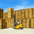 Stock Photo: Pallets warehouse