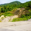 Stock Photo: Road mudslide erosion