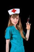 Retro nurse — Stock Photo