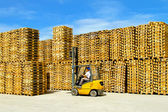 Pallets warehouse — Stock Photo