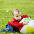 Little boy with the ball — Stock Photo