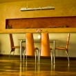 Interrior shot of dinning room — Stock Photo