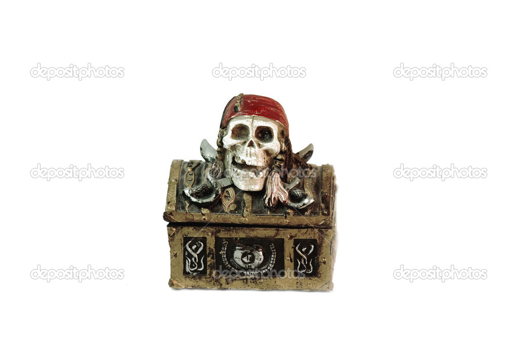 Plastic pirate chest toy — Stock Photo #2806123