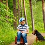 Boy and dog — Stock Photo #3416432