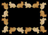 Easter Bunny Cookies Frame — Stock Photo