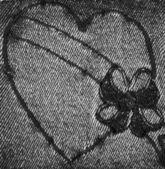 Black Denim Heart 4 — Stock Photo