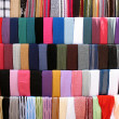 Stock Photo: Colorful Cloths Stall at Old Souk