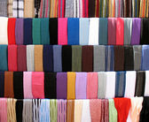 Colorful Cloths Stall at Old Souk — Stock Photo