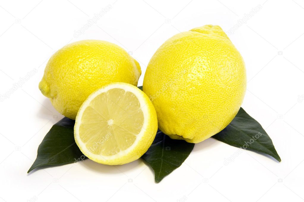 Lemons fruit isolated on white background  — Stock Photo #2732791