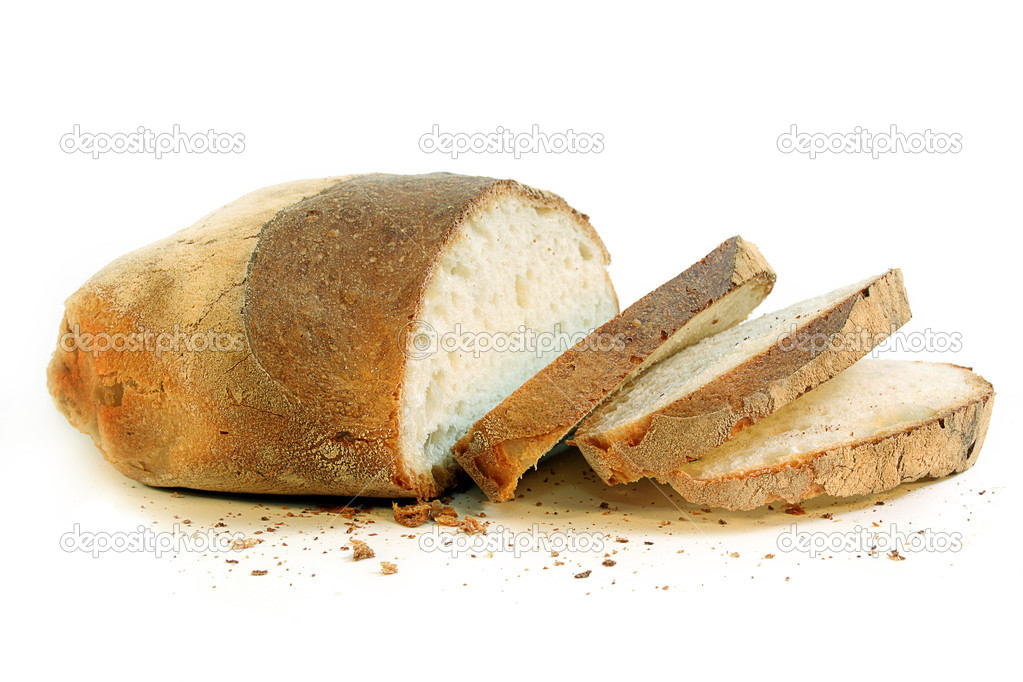 Cut bread to slices ready in order to eat — Stock Photo #2847627