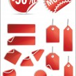 Vector stickers and labels set - Stock Vector