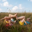 Children on a meadow — Stock Photo #2878120