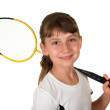 Badminton girl — Stock Photo #3466943