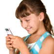The girl with mobile phone — Stock Photo #3649739