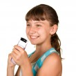 The girl with mobile phone — Stock Photo #3649789