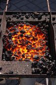 Hot coals — Stock Photo