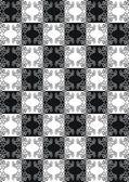 Плитка способный черно белый узор — Cтоковый вектор