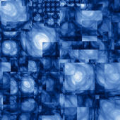 Abstract Cubist Fractal Blue Background — Foto de Stock
