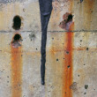 Close Up of a Colorful, Weathered Concrete Wall. - Stock fotografie