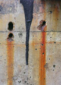 Close Up of a Colorful, Weathered Concrete Wall. — Foto de Stock
