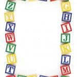 ABC Alphabet Block Frame — Stock Photo
