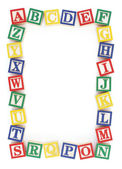 ABC Alphabet Block Frame — Foto de Stock