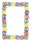 Ościeżnica blokowa abc alfabet — Zdjęcie stockowe