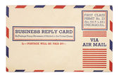 Vintage United States Airmail Business Reply Card Vintage United — Stock Photo