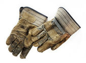Old Dirty Work Gloves — Stock Photo