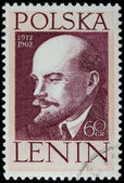 Lenin on a vintage post stamp — Stock Photo