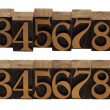Royalty-Free Stock Photo: Wood numbers